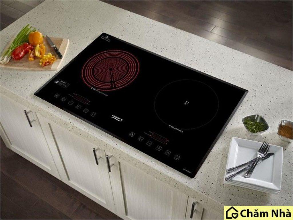 bếp điện từ kết hợp hồng ngoại Chefs