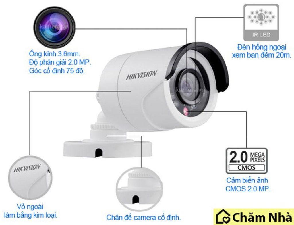 Cấu tạo của Camera an ninh Hikvision DS – 2 CE16D0T-IR