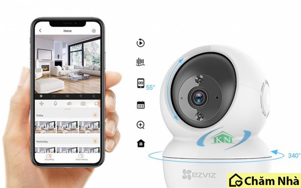 Camera an ninh EZVIZ C6N dễ dàng sử dụng qua smartphone