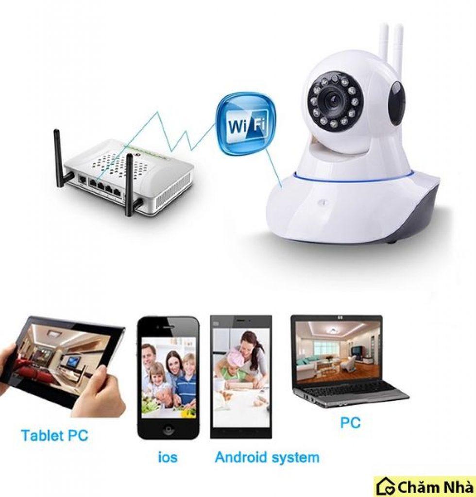 Camera không dây tiện lợi khi giao tiếp qua mạng internet