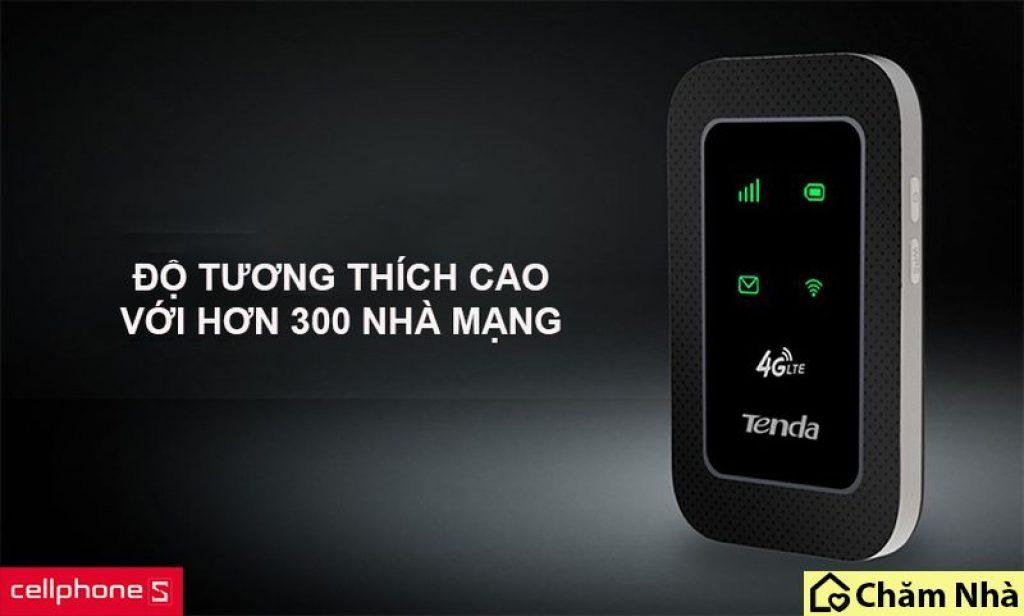 Bộ phát wifi di động Tenda tương thích với nhiều nhà mạng