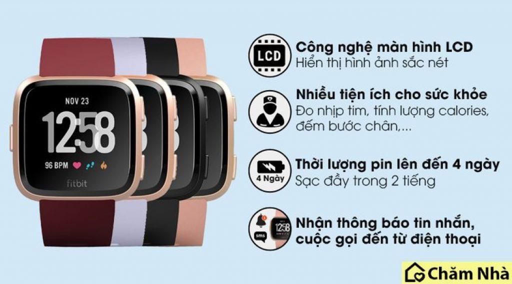 các tính năng của đồng hồ thông minh fitbit