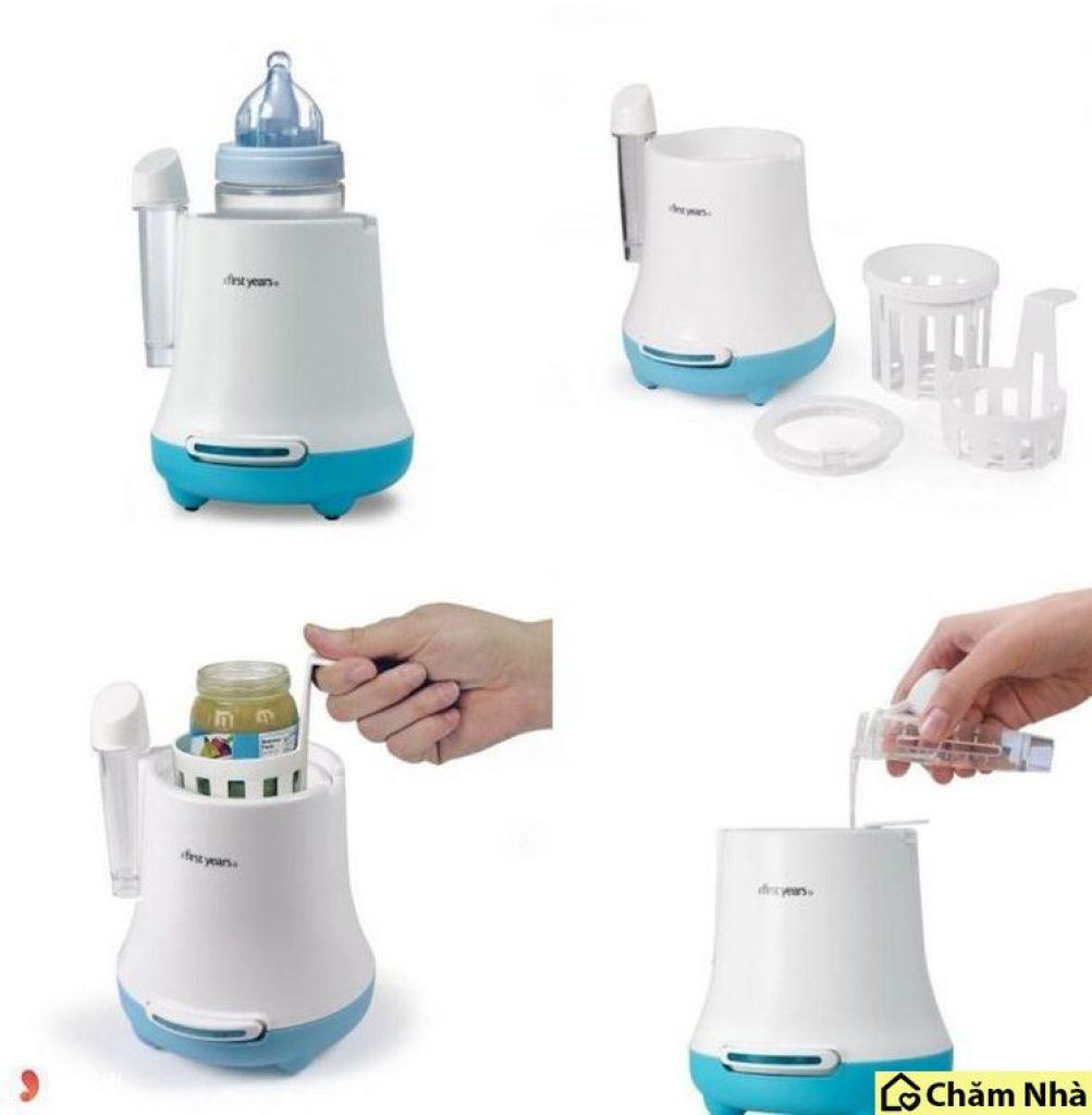 Bạn nên đổ mực nước của máy cao hơn mức sữa hay thức ăn chứa trong bình cần hâm một tí.