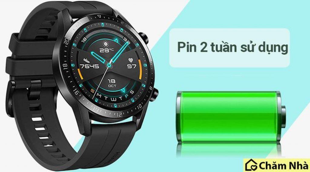 dung lượng pin của đồng hồ thông minh huawei watch gt2