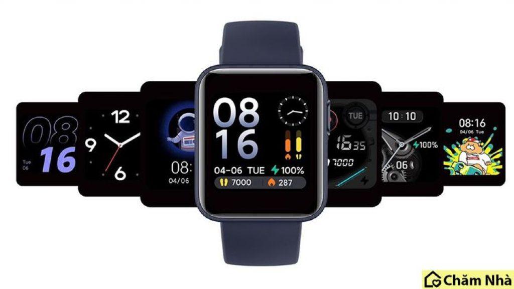 giao diện tùy chọn của đồng hồ thông minh xiaomi mi watch lite