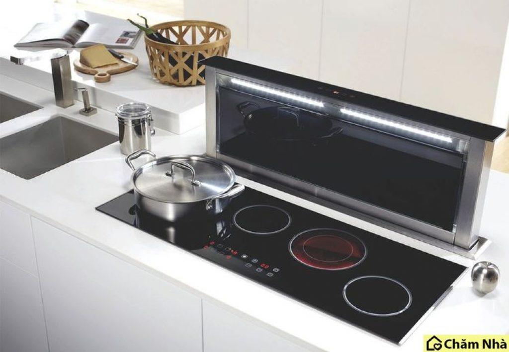 Máy hút mùi âm bàn là loại máy khử mùi nhà bếp được lắp đặt dưới mặt bàn bếp