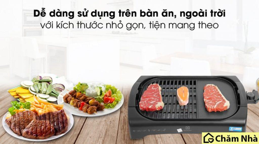 Bếp nướng điện Electrolux thiết kế đơn giản và sang trọng